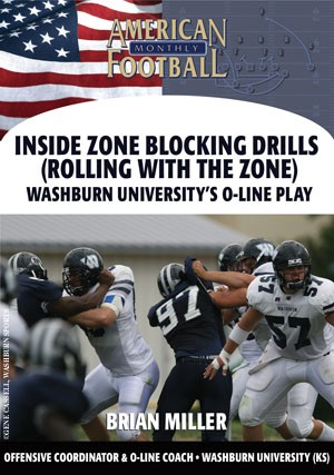 Inside Zone Blocking Drills (Rolling with the Zone) - Washburn University's O-Line Play